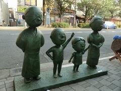 桜新町の波平像 2012/5/27