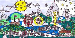 Zmagovalni doodle natečaja Doodle4Google 'Slovenija in jaz' - avtor Maks Lenart Černelč