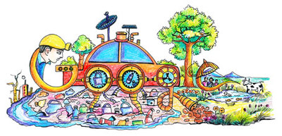 """Happy Children's Day """"Creating Something for India"""" doodled by Doodle 4 Google 2015 Winner"""