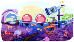 """Doodle 4 Google Canada 2014 - """"Sea Telescope"""" by Cindy Tang"""