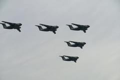 入間基地航空祭2011年 C-1編隊飛行 その1