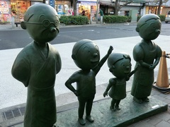 桜新町の波平像 2012年12月9日