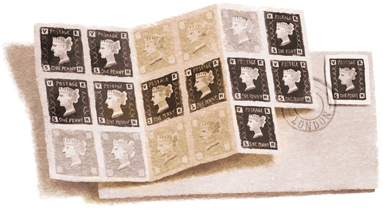 175th anniversary of the Penny Black stamp