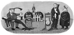 Charles Addams' 100th Birthday. Courtesy of the Tee & Charles Addams Foundation.