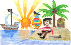 Doodle 4 Google winner Dylan Hoffman's 'Pirate Times'