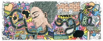 "Doodle 4 Google 2015/2016 - ""My Afrocentric Life"" by Akilah Johnson, Washington, DC"