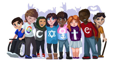 "Doodle 4 Google 2016/2017 Winner! - ""A Peaceful Future"" by Sarah Harrison, Stratford, CT"