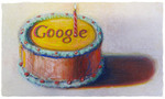 「Happy 12th Birthday Google」 by Wayne Thiebaud (VAGA NYによる掲載許可取得済)