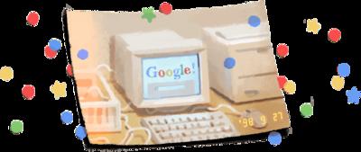 Google 創立 21 周年記念