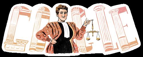 De 174ste verjaardag van Marie Popelin
